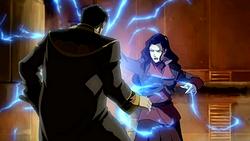 Asami electrocutes Hiroshi
