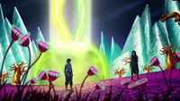 Korra and Kuvira in the Spirit World