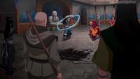 La Orden del Loto Rojo contra Kya, Tenzin y Bumi