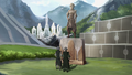 Lin and Su look at a statue of Toph.png