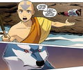Aang negotiating with wolf spirit.png