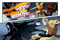 Aang fights the impostor