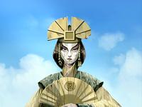 Avatar Kyoshi statue