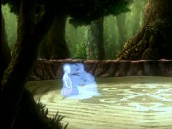 Aang summons a spirit