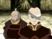Iroh junto a Zuko a poco de ser exiliado