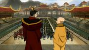 Zuko und Aang bei der Krönung