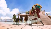 Jinora trains Bumi and Kai
