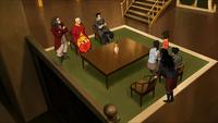 Team Avatar in ihrem Haus in Ba Sing Se