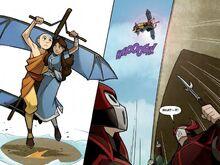 Комикс О1 Аанг и Катара полёт