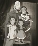 Fotografía de la familia de Aang y Katara