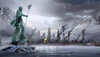 Ciudad República bajo ataque
