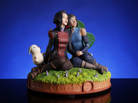 Korra and Asami statue