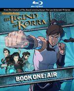Blu ray обложка Корра Книга 1