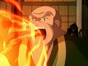 Iroh respirando fuego
