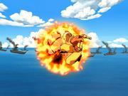 Aang zerstört Feuerball