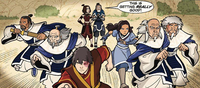 Zuko, Katara, and the White Lotus intervene
