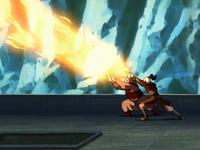 Zuko and Iroh attack