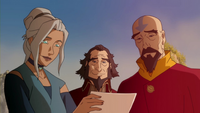 Kya, Bumi, and Tenzin