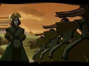 Kyoshi entrena al Dai Li