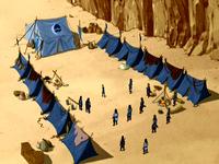 Campamento de Hakoda en la Bahía