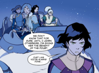 Opal, Suyin, Toph, Korra, and Asami on Juicy