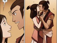 Комикс П1 Урса и Икем поцелуй