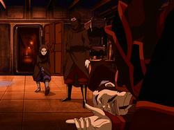 Katara bloodbends ship captain