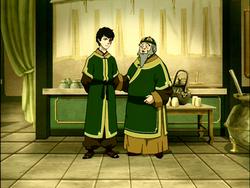 Iroh en Zuko in de Jasmijn Draak