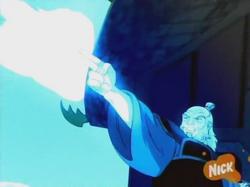 Iroh verwijst bliksem door