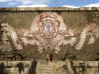 Mural de origem da dobra de fogo