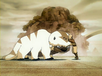 Aang conoce a Appa