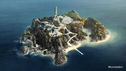 Островной Храм Воздуха вид сверху