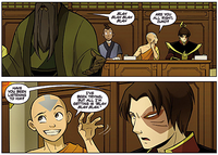 Aang and Zuko at assembly