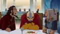Bumi and Kya teasing Tenzin.png
