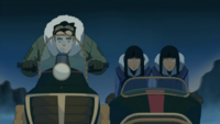 Bolin drives Desna and Eska
