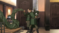 Varrick inspecting the spirit vine