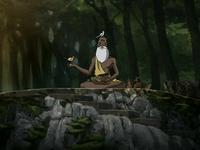 Pathik rodeado por naturaleza