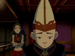 Aang and Katara during intermission