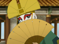 Aang in Kyoshi's attire