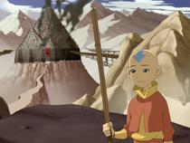 Aang en Omashu capturado