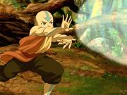 Aang testet sein Bändigen