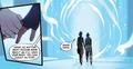 Asami and Korra entering the spirit portal.png