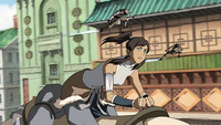 Korra being chased
