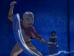 Aang teaches Katara