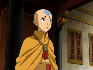 Aang in monk robes