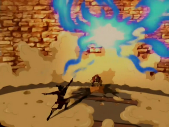 File:Aang wrecks the drill.png
