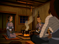 Katara, Sokka and Bato