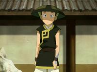 Aang como estudiante de Tierra Control
