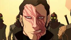 Amons verbrande gezicht