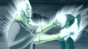 Aang restaurando el Control de Korra